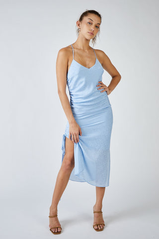 Emily Side Ruched Midi Dress