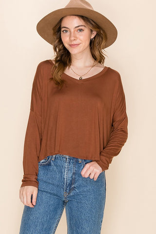 Malia Swing Top, Hazelnut