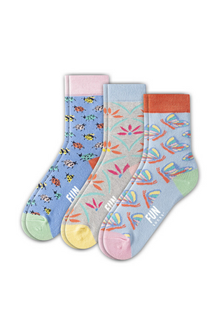 Fun Socks - Girl's Butterfly Crew Socks