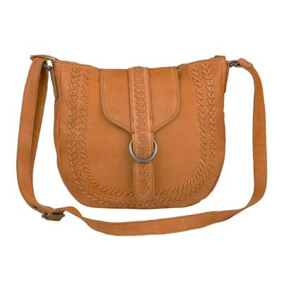 Asher Crossbody, Cognac