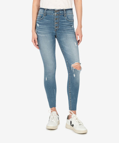 Connie High Rise Ankle Skinny, Fully Wash