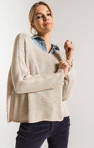 Rag Poets Fulton Open Weave Sweater