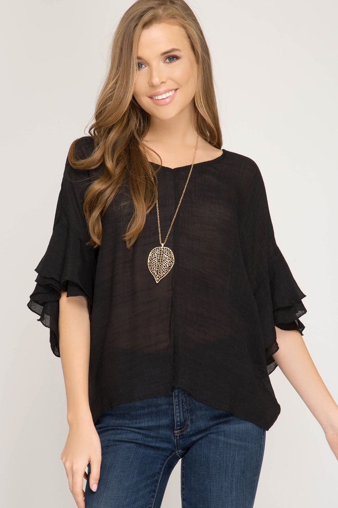 Tia Twist Back Top