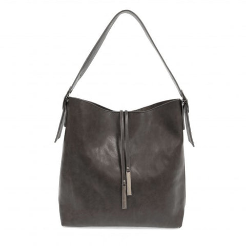 Jillian Tassel Hobo Bag, Charcoal