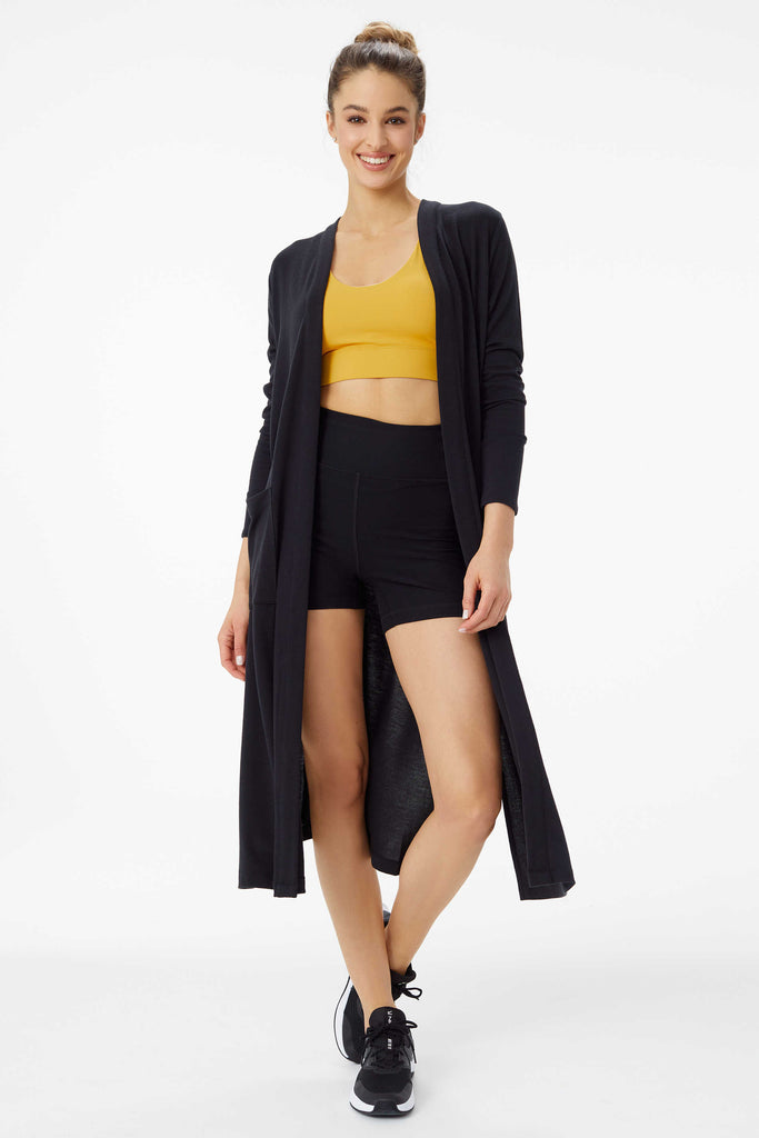 Downtown Long Cardigan, Black