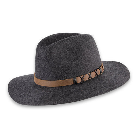 Soho Wide Brim Hat, Charcoal