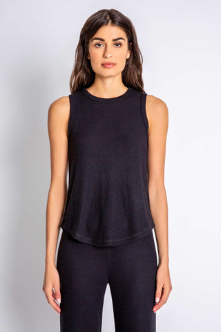Basic Textured Tank, Black