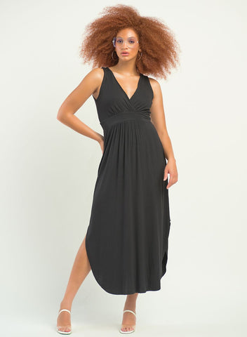 Victoria Surplice High-Low Dress