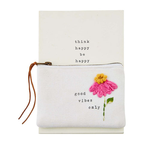 """Good Vibes"" Notebook & Pouch Set"