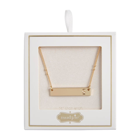Initial Bar Necklace, S