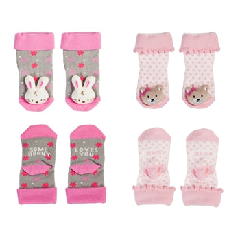 Evergreen Enterprises Baby Girl Plush Socks Set