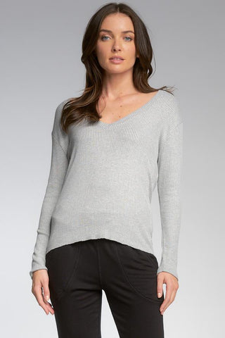Simone Long Sleeve V-Neck Top