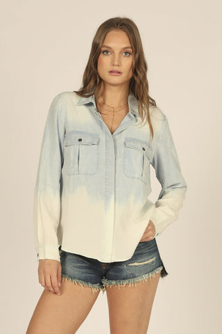 Denim Wash Tencel Camp Shirt