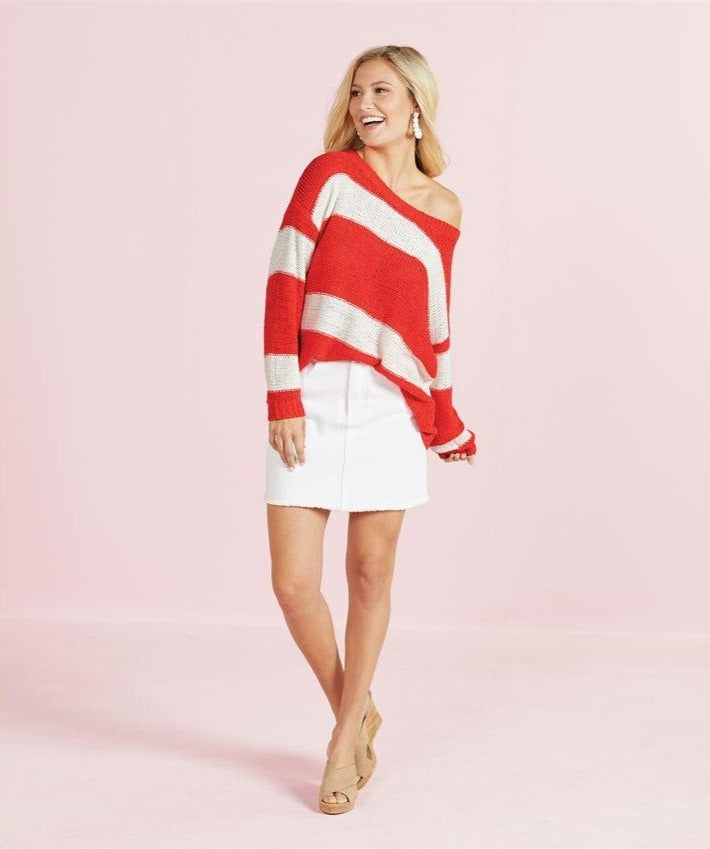 Tommy Red Striped Pullover