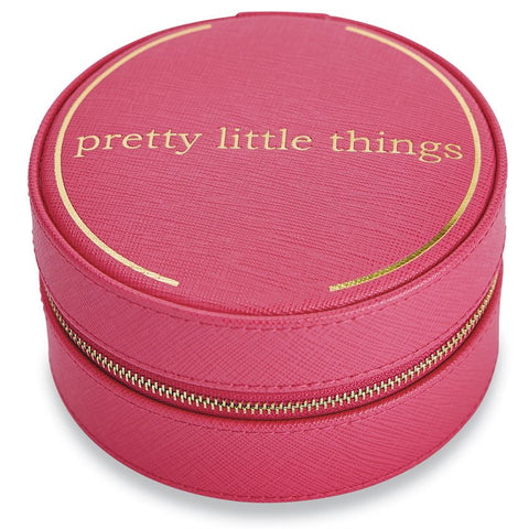"""Pretty Little Things"" Pink Traveling Jewelry Case"