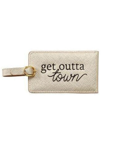 Gold Luggage Tag