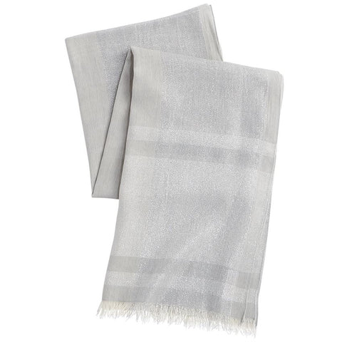 Gray Shimmer Scarf