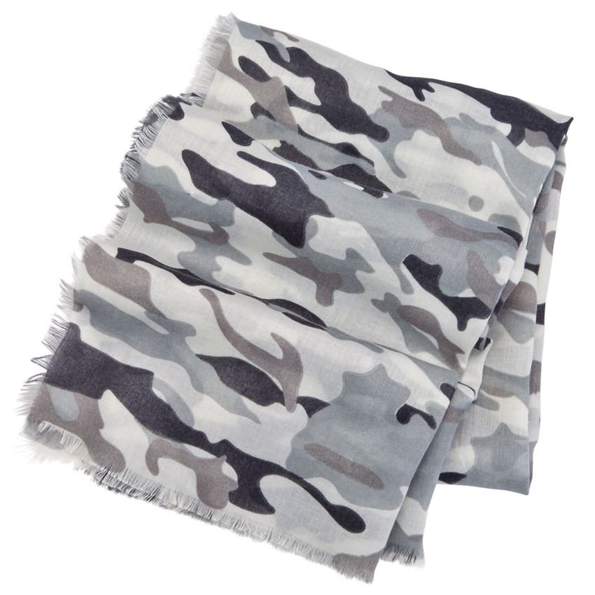 Camo Scarf In Gray