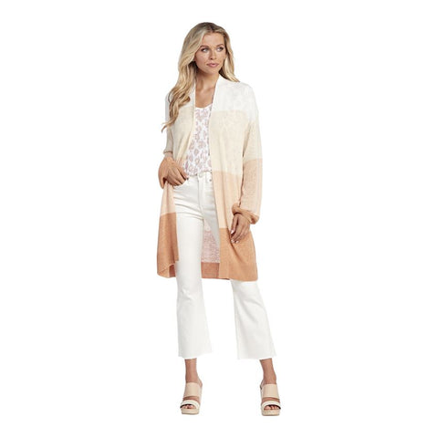 Nylah Striped Cardigan, Blush