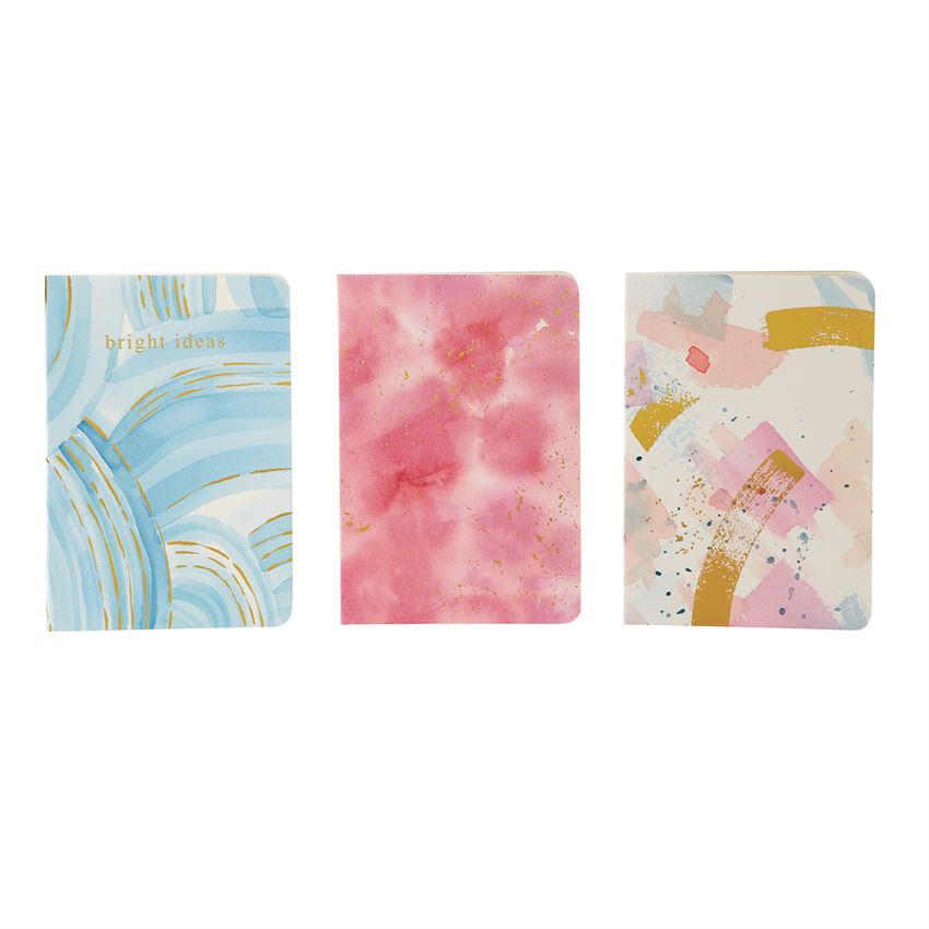 Set Of Three Abstract Notebooks