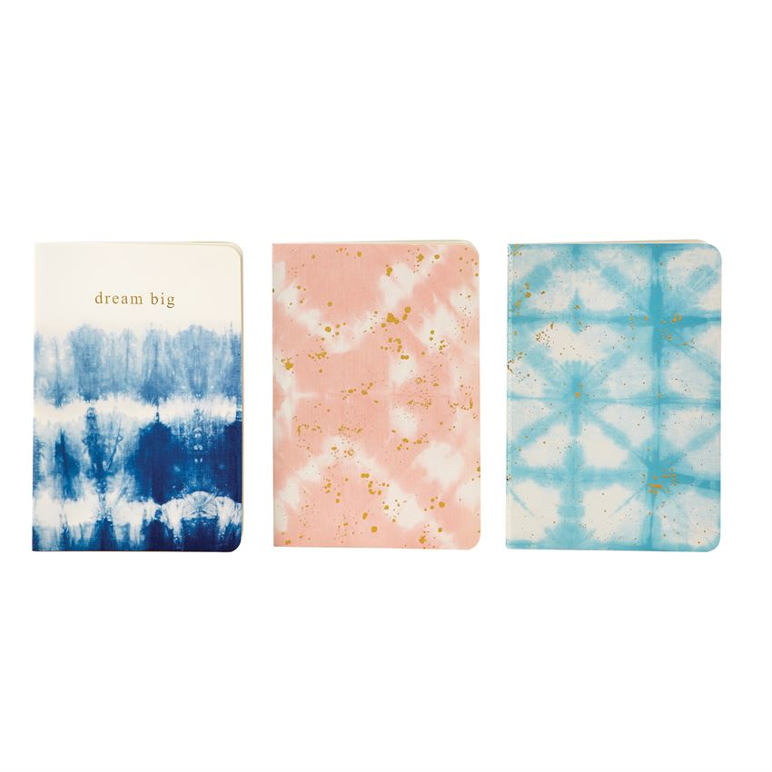Set Of Three Tie Dye Notebooks