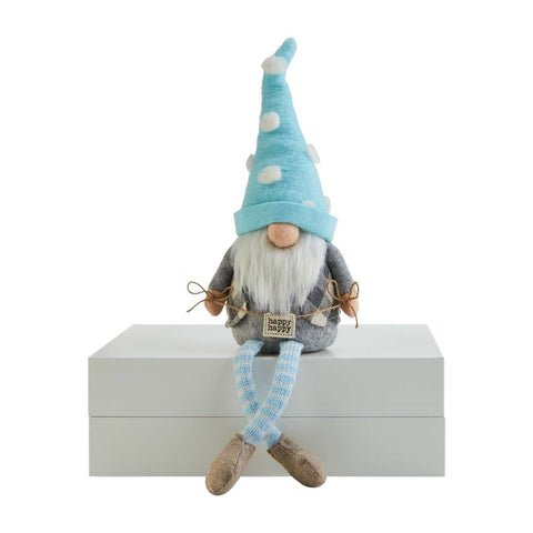 Happy Sign Dangle Leg Gnome