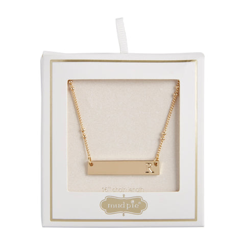 Initial Bar Necklace, R