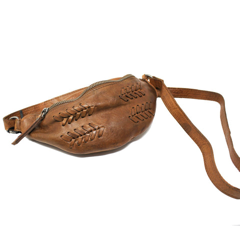 Delta Leather Hip Pack In Cognac