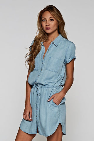 Tencel Shirt Dress, Heritage Blue