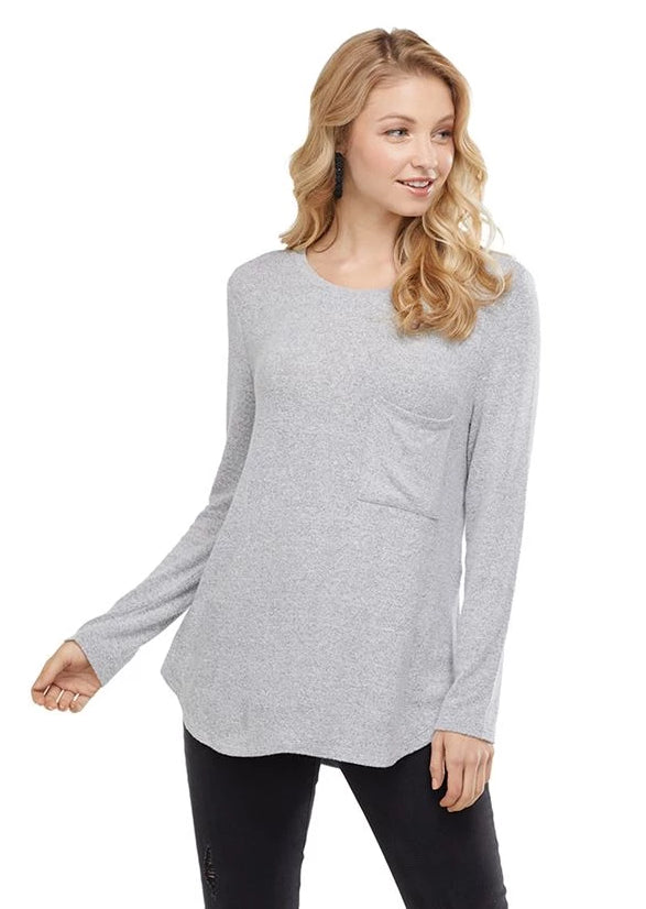 Billie Long Sleeve T-Shirt in Gray
