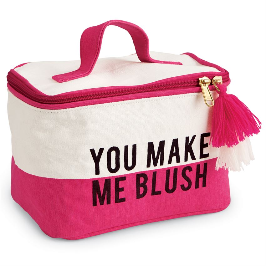 You Make Me Blush Cosmetic Bag
