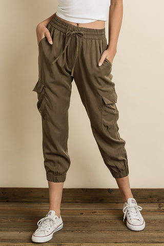 Afia Cargo Joggers In Army