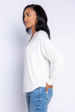 Textured Basics Long Sleeve Top, Stone