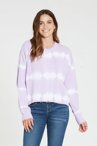 Sydney Striped Sweater in Orchid