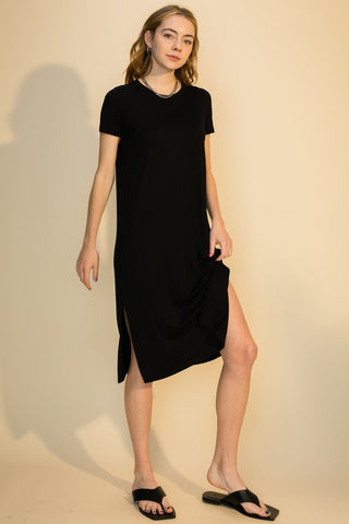 Freya T-Shirt Dress, Black