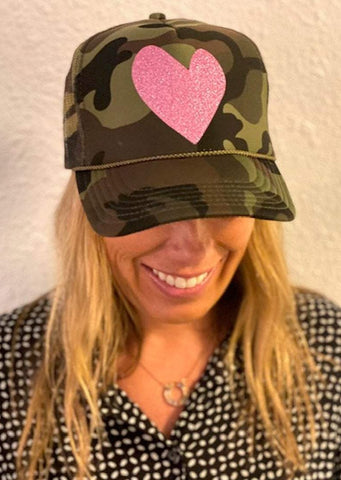 Camo Heart Trucker Hat