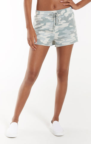 Camo Sporty Short, Dusty Sage