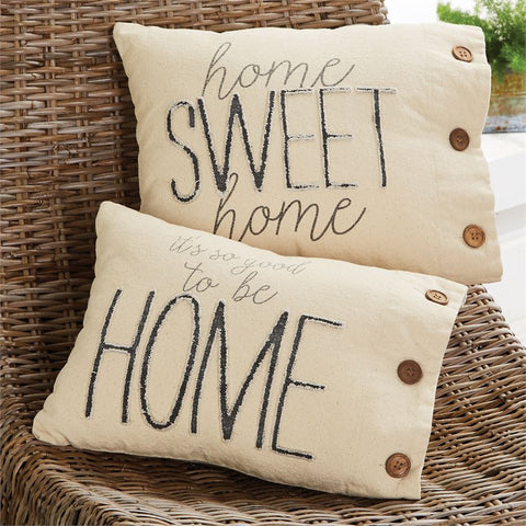 """Home Sweet Home"" Canvas Pillow"
