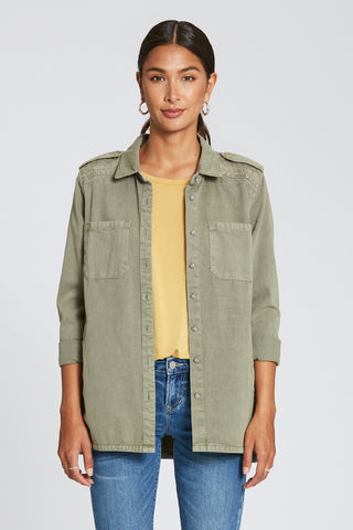 Marella Button Down in Watercress
