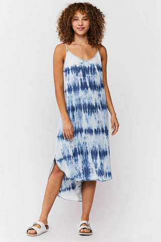 Merlyn Tie-Dye Midi Dress, Blue