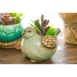 Ceramic Bird Planter with Faux Succulent