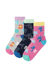 Fun Socks - Girl's Zoo Crew Socks