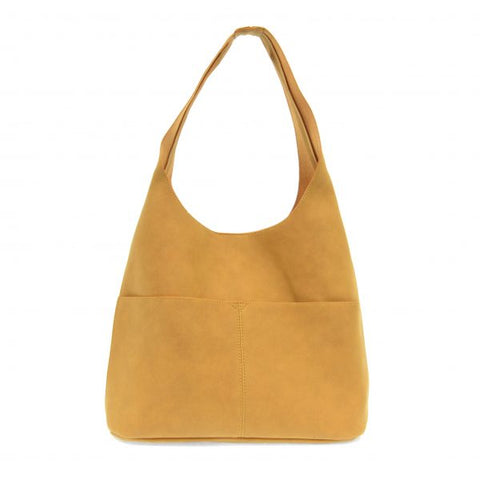 Jenny Faux Suede Hobo Handbag, Butterscotch