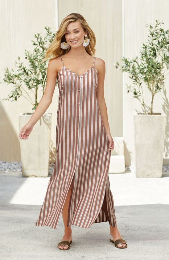 Lane Maxi Dress In Rust