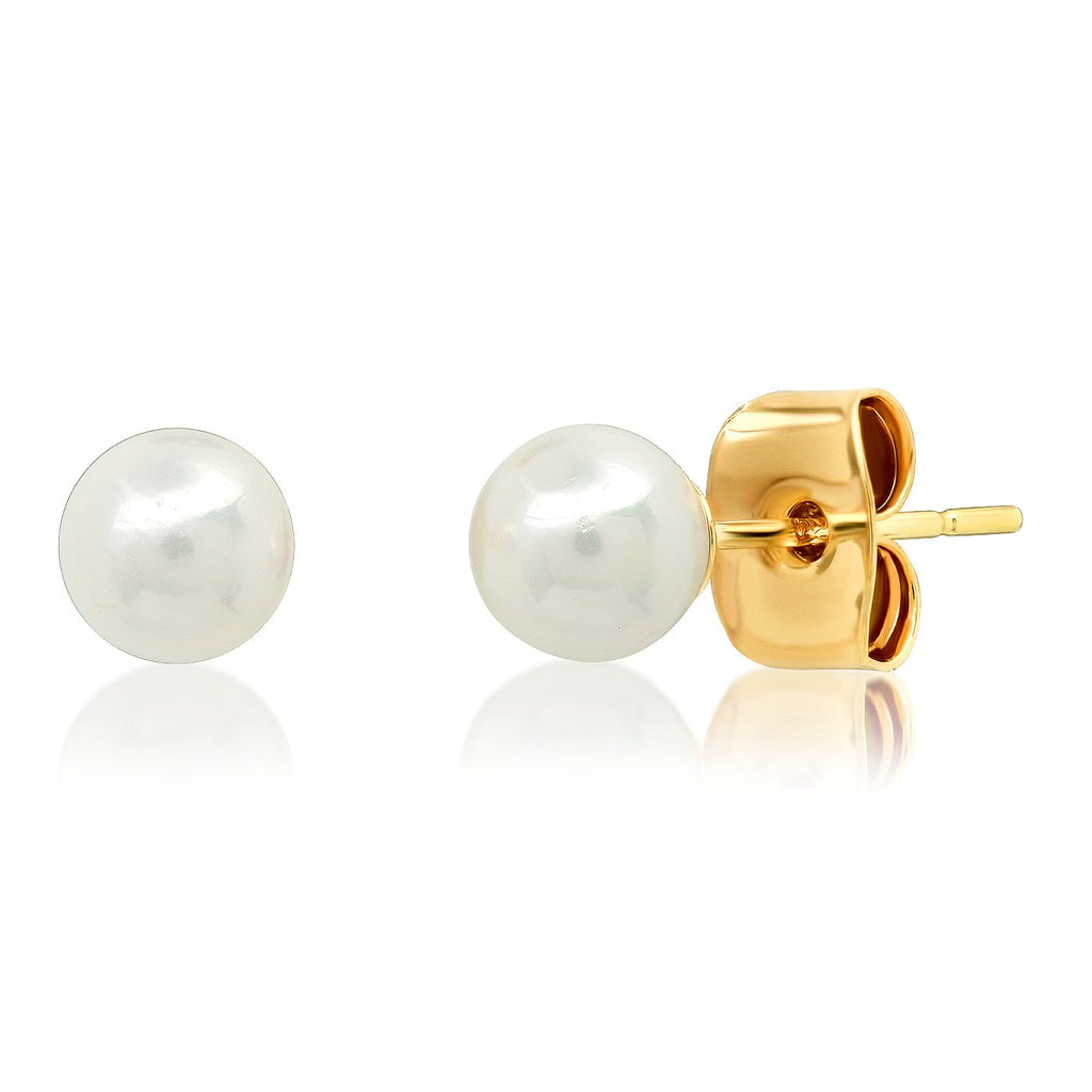 Tai Jewelry Freshwater Pearl Stud Earrings