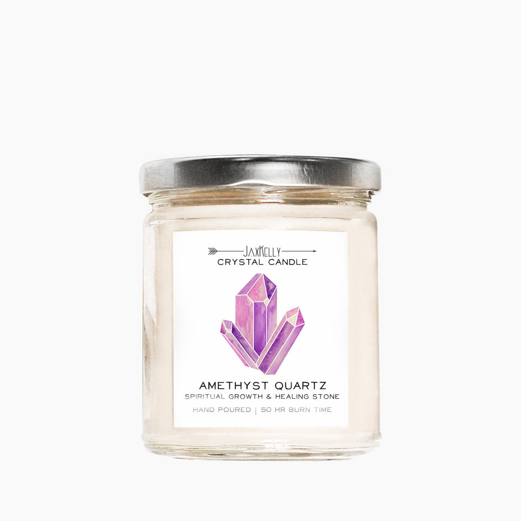 Amethyst Crystal Candle – Spiritual Growth & Healing