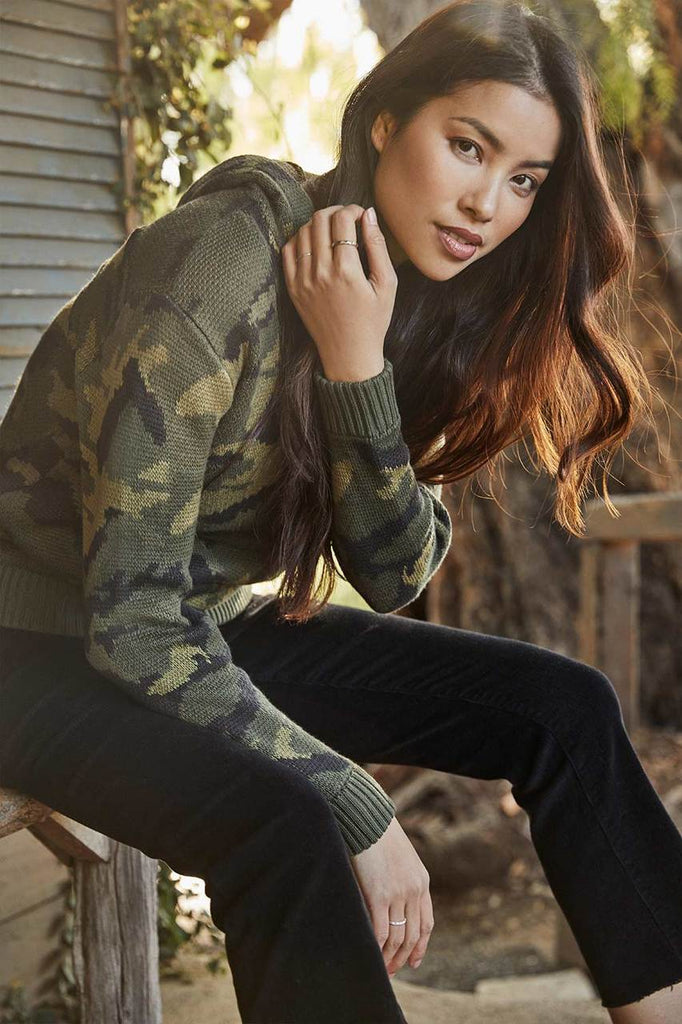 Annika Camo Pullover Hoodie