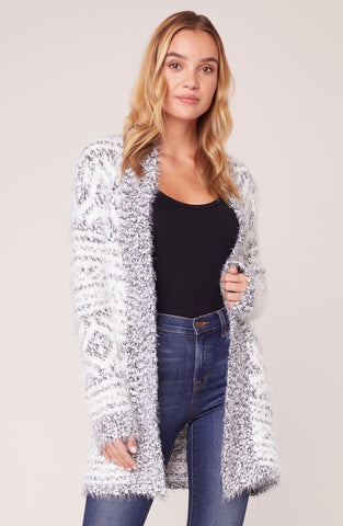 A Star is Warm Eyelash Cardigan in Ivory