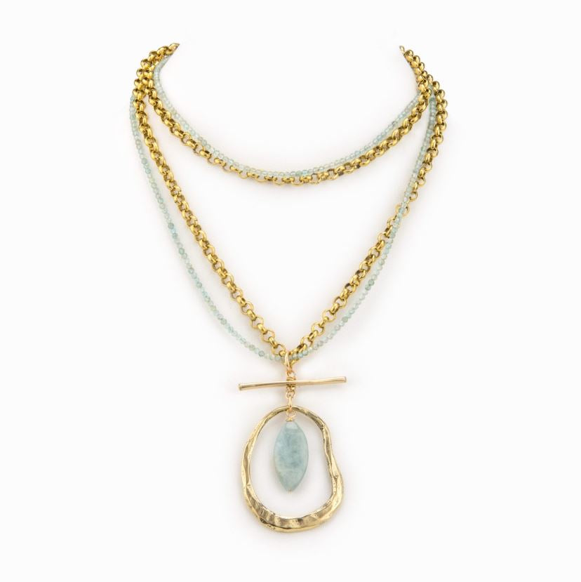Aquamarine Chain Necklace