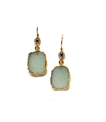 Alexi Aqua Druzy Earrings